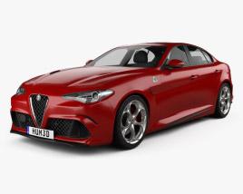 3D model of Alfa Romeo Giulia Quadrifoglio 2016