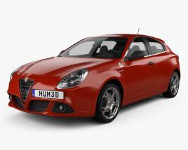 3D model of Alfa Romeo Giulietta Quadrifoglio Verde 2014