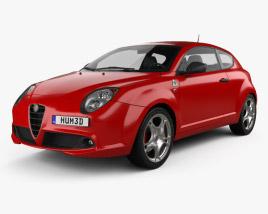 3D model of Alfa Romeo MiTo Quadrifoglio Verde 2014