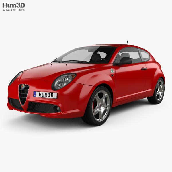 Alfa Romeo MiTo Quadrifoglio Verde 2014 3D model
