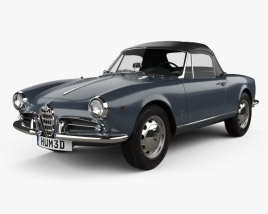 3D model of Alfa Romeo Giulietta Spider 1955