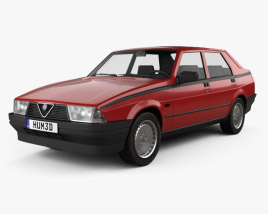 3D model of Alfa Romeo 75 1985