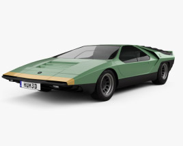 3D model of Alfa Romeo Carabo 1968