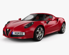 Alfa Romeo 4C with HQ interior 2014 3D model
