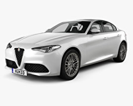 3D model of Alfa Romeo Giulia 2016