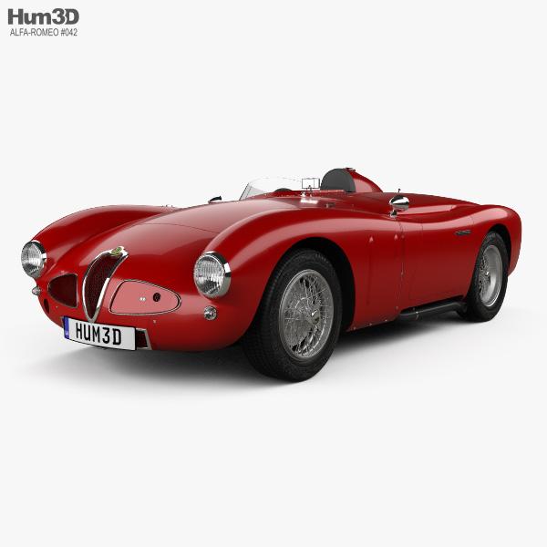 Alfa Romeo 6C 3000 PR Disco Volante 1953 3D model