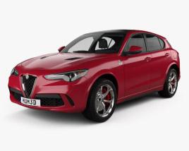 3D model of Alfa Romeo Stelvio Quadrifoglio 2018