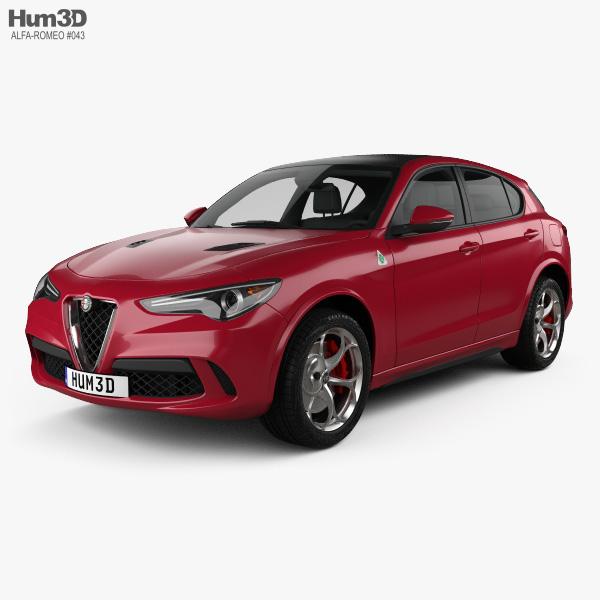 Alfa Romeo Stelvio Quadrifoglio 2018 3D model