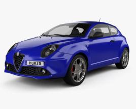3D model of Alfa Romeo MiTo Veloce 2016