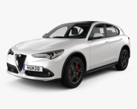 3D model of Alfa Romeo Stelvio Q4 2017