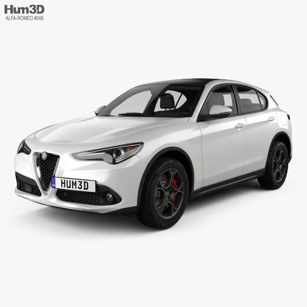 Alfa Romeo Stelvio Q4 2017 3D model