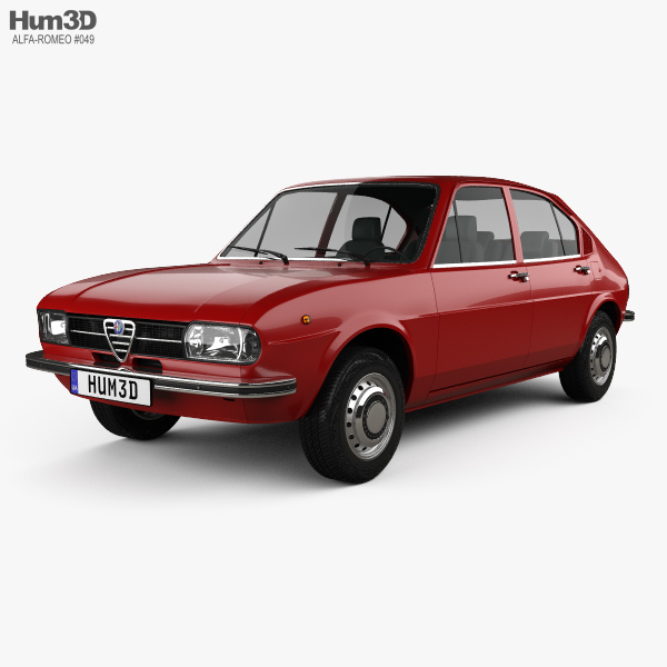 Alfa Romeo Alfasud 1972 3D model
