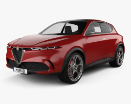 3D model of Alfa Romeo Tonale 2019