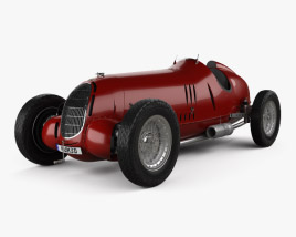 3D model of Alfa Romeo Tipo C 1936