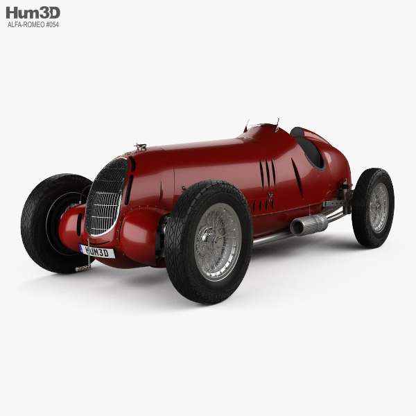 Alfa Romeo Tipo C 1936 3D model