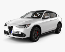 3D model of Alfa Romeo Stelvio Q4 with HQ interior 2017