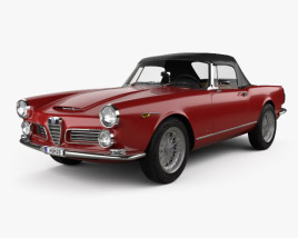 Alfa Romeo 2600 spider touring with HQ interior 1962 3D model