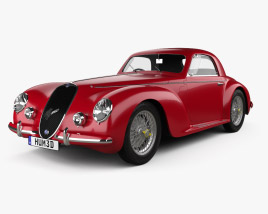 3D model of Alfa Romeo 6c 2500 Corsa Touring coupe 1939