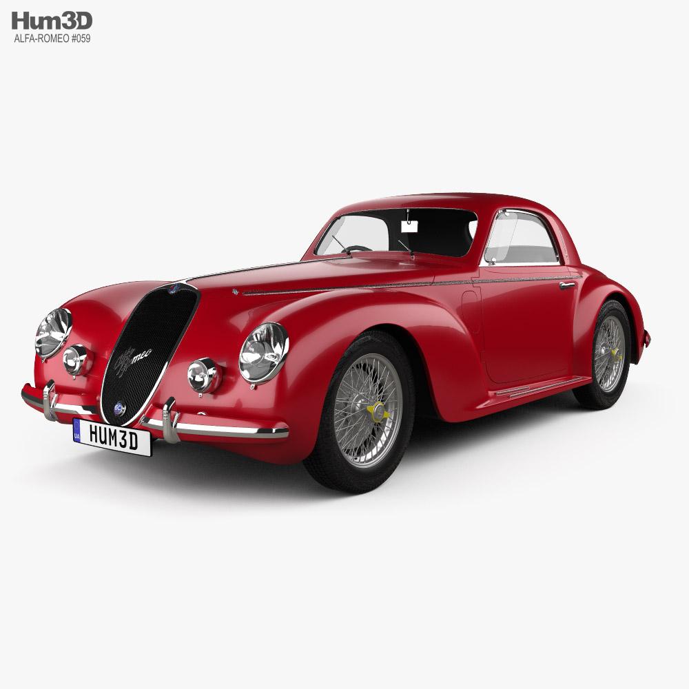 3D model of Alfa Romeo 6c 2500 Corsa Touring coupe 1939