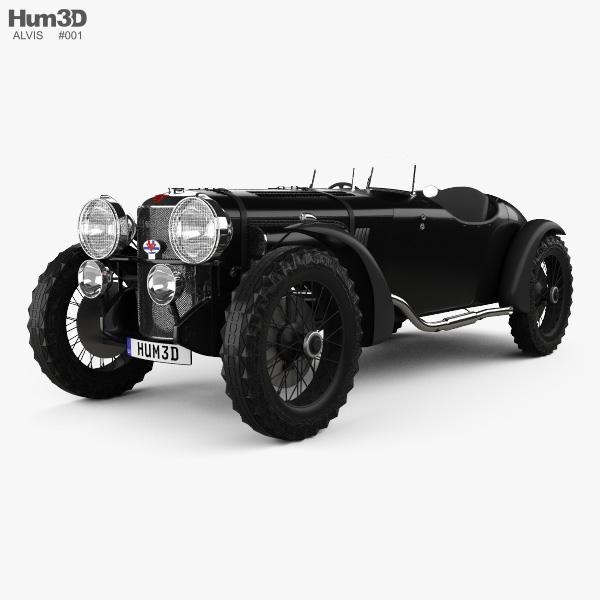 Alvis Speed 20 SB Sport 1934 3D model