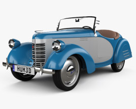 3D model of American Bantam Model 62 Deluxe Roadster 1939