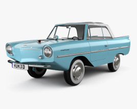 3D model of Amphicar 770 convertible 1961