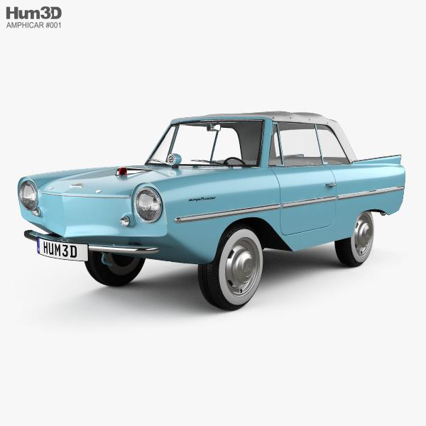 Amphicar 770 convertible 1961 3D model
