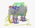 Elefantes africanos Modelo 3D