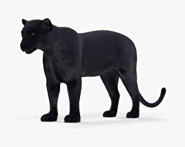 Black Panther HD 3D model