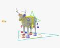 Cervo dalla coda bianca Modello 3D