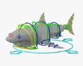 Great White Shark HD 3d model