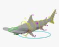Smooth Hammerhead Shark HD 3d model