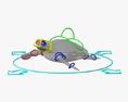 Hawksbill Sea Turtle HD 3d model