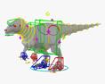 Allosaurus HD 3d model