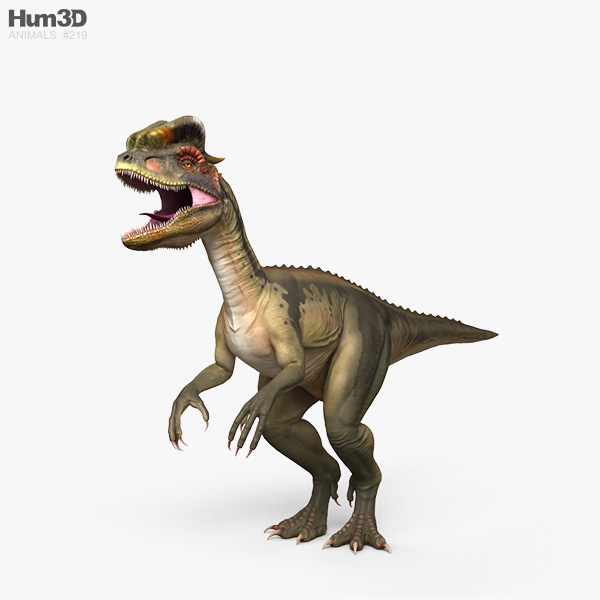 Dilophosaurus HD 3D model
