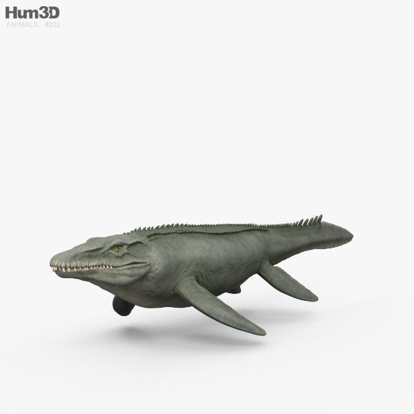 Mosasaurus HD 3D model