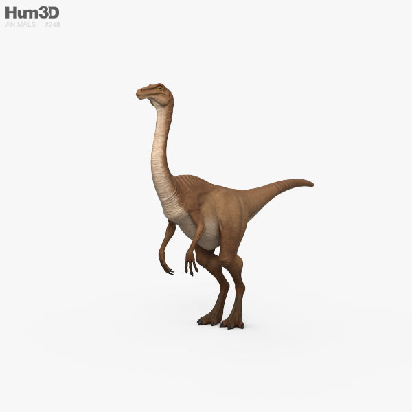 Gallimimus HD 3D model