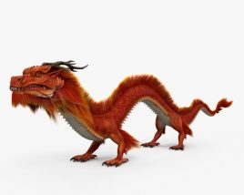 3D model of Chinese Dragon HD