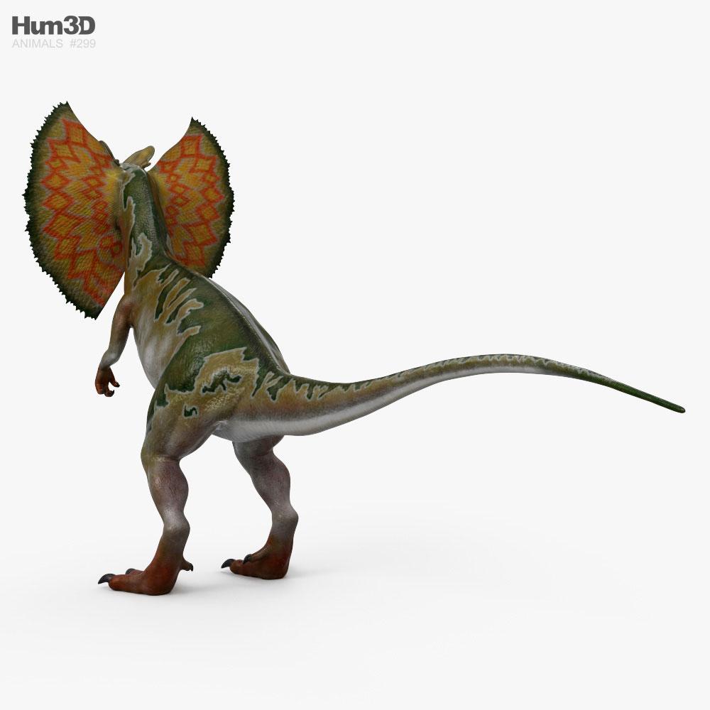 Dilophosaurus with Neck Frill HD 3d model