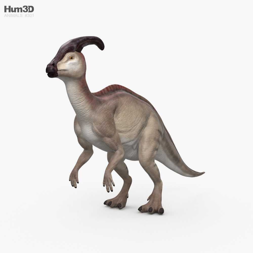 Parasaurolophus HD 3D model