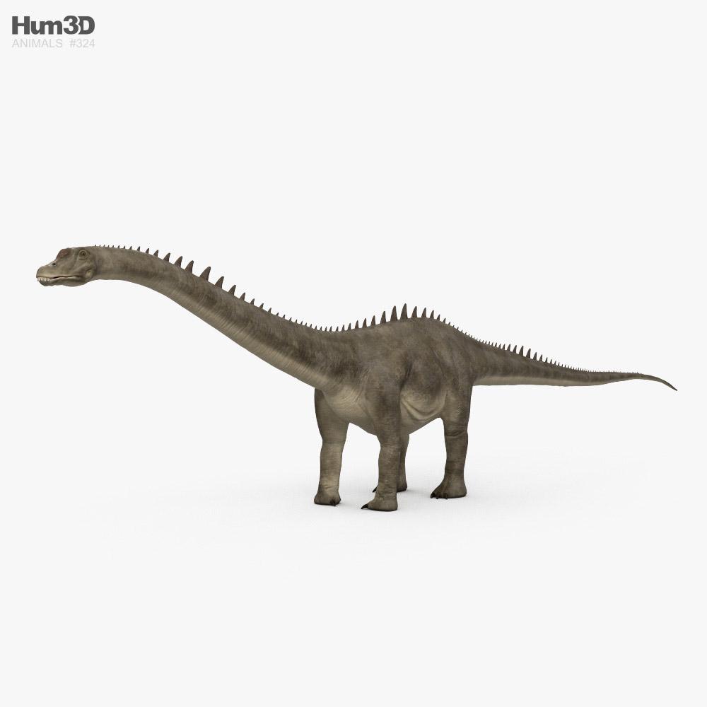 Diplodocus HD 3D model