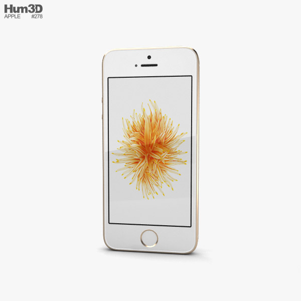 3D model of Apple iPhone SE 2 Gold