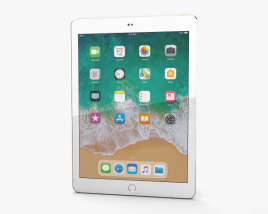 3D model of Apple iPad 9.7-inch (2018) Cellular Gold