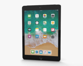 3D model of Apple iPad 9.7-inch (2018) Cellular Space Gray