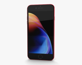 3D model of Apple iPhone 8 Plus Red