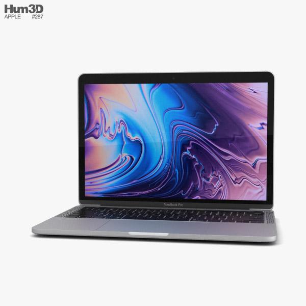 Apple MacBook Pro 13 inch (2018) Touch Bar Silver 3D model