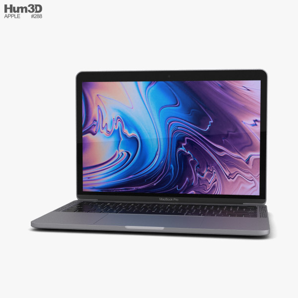 Apple MacBook Pro 13 inch (2018) Touch Bar Space Gray 3D model