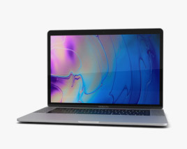3D model of Apple MacBook Pro 15 inch (2018) Silver