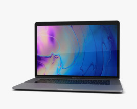 3D model of Apple MacBook Pro 15 inch (2018) Space Gray