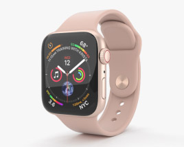 3D model of Apple Watch Series 4 40mm Gold Aluminum Case with Pink Sand Sport Band
